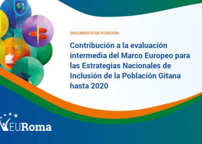 Contribución de EURoma sobre el Marco Europeo para las Estrategias Nacionales de Inclusión de la Población Gitana