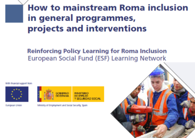 How to mainstream Roma inclusion in general programmes, projects and interventions