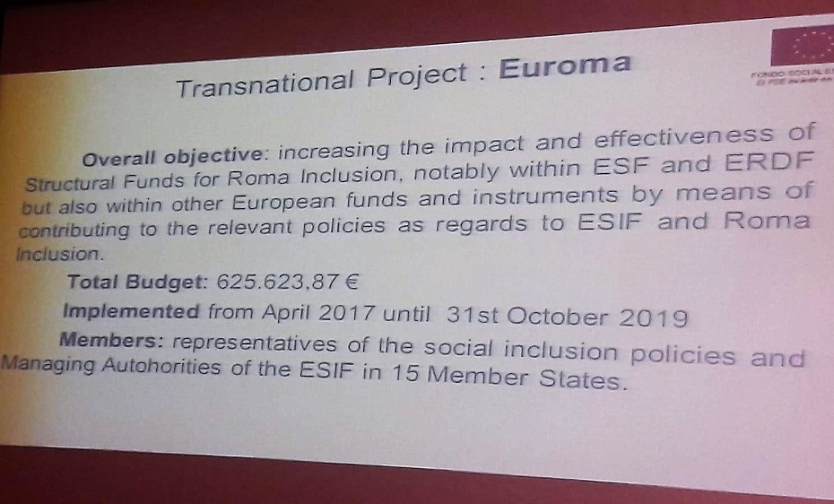 EURoma highlighted as example of good practice of transnational cooperation