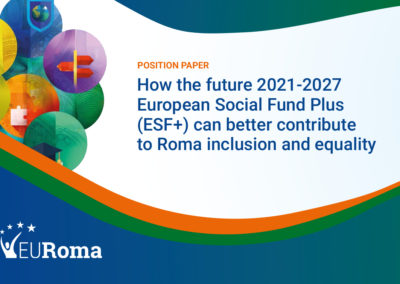 Updated EURoma's position paper on 2021-2027 ESF+ Regulation