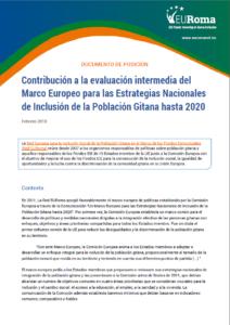 Portada Documento Posición Evaluación Intermedia Marco Europeo