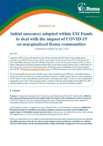 Portada EURoma Snapshot Use ESI Funds & COVID